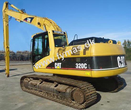 Caterpillar 320 CL - Lang gravebom