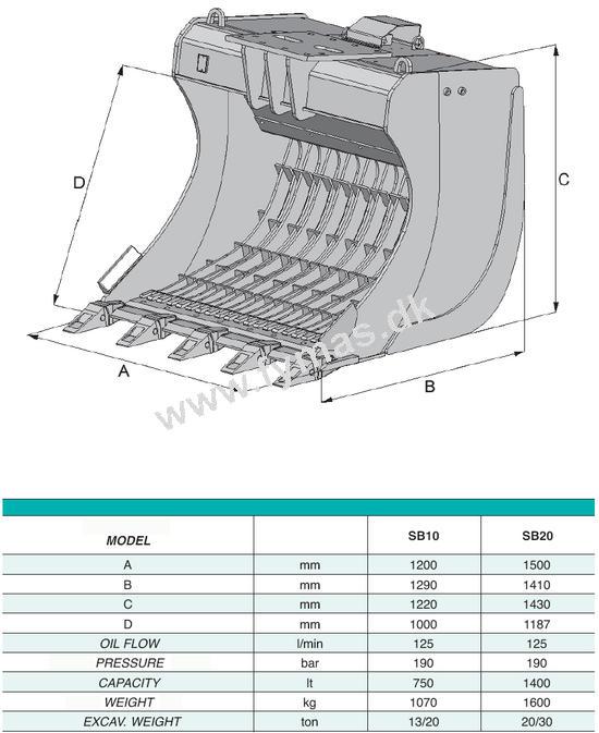 VTN SB10 -SB50 Risteskovl m/vibration