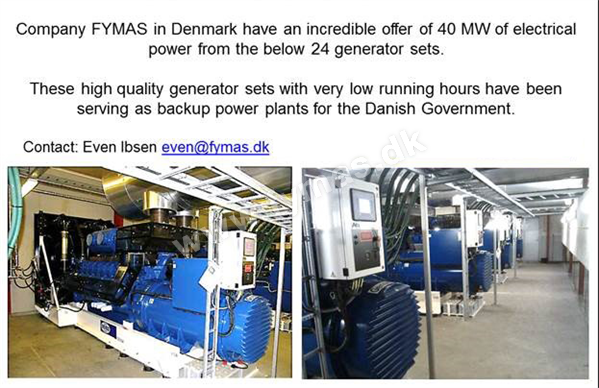ABC 40 MW - 24 generator sets with low hours