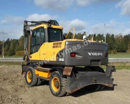 Volvo EW160 C m/Rotortilt og Støtteben + Dozerblad